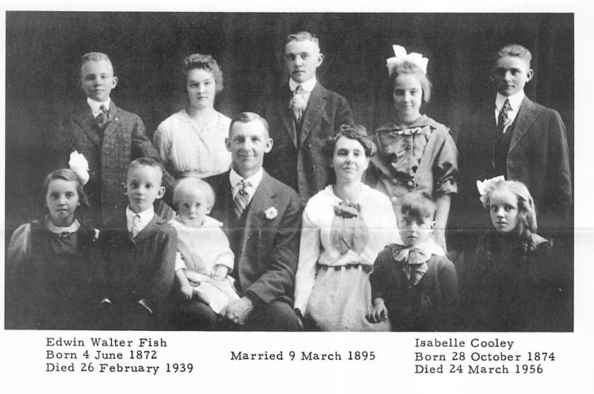 Edwin Walter FIsh and family