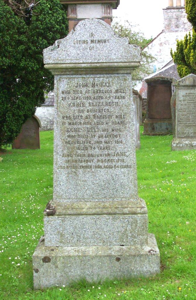 John McKay headston Colvend cemetery